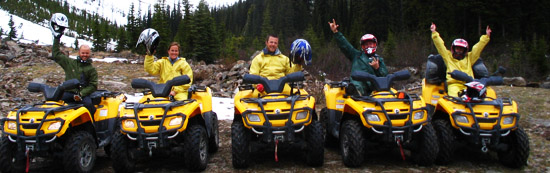 Quad biking Golden, bc